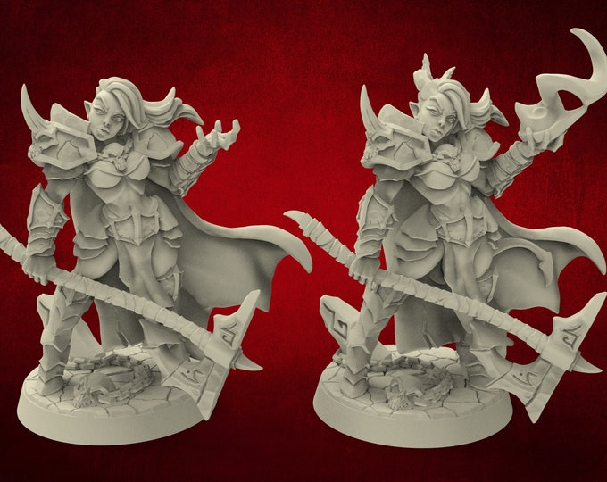 Demons Diabolica the Eternal - 2 Poses - Dungeons and Dragons - DnD - Pathfinder - Miniatures