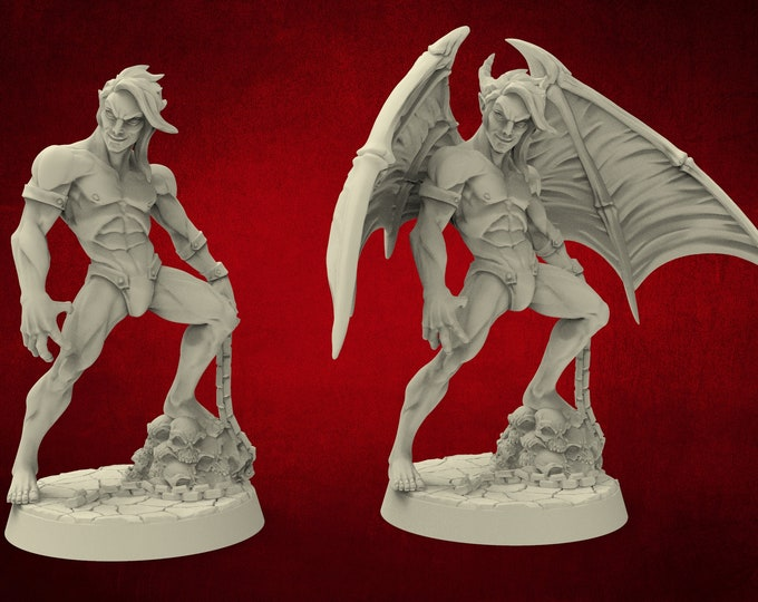 Demons Vanos Lust Demon Incubus (Pinup) - 2 Poses - Dungeons and Dragons - DnD - Pathfinder - Miniatures