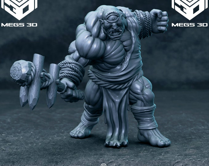 Cyclops - 3D Printed Resin Miniature for Dungeons and Dragons, Pathfinder, Starfinder and other Tabletop RPGs