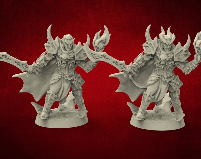 Demons Ildamos Half Blood - 2 Poses - Dungeons and Dragons - DnD - Pathfinder - Miniatures