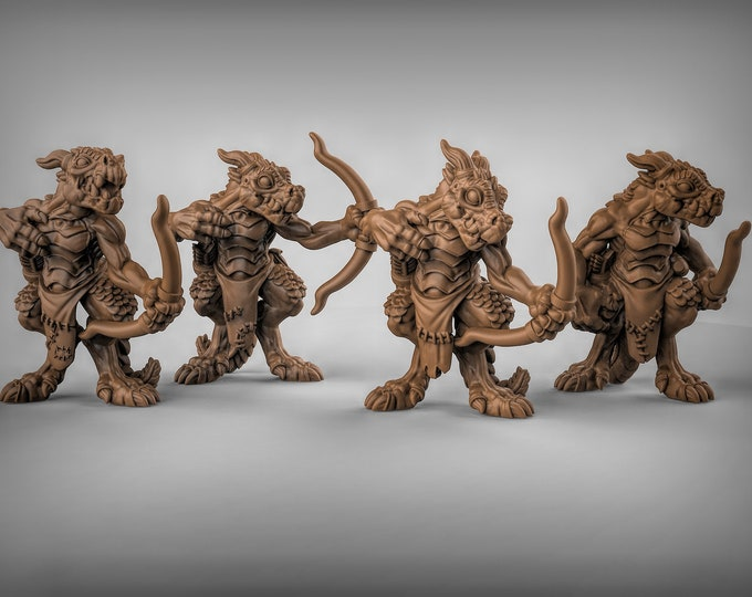 Kobold Archers - 3D Printed Resin Miniature for Dungeons and Dragons, Pathfinder, Starfinder and other Tabletop RPGs
