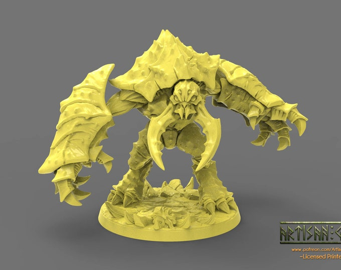 Hive Colosus - 3D Printed Resin Miniature for Dungeons and Dragons, Pathfinder, Starfinder and other Tabletop RPGs