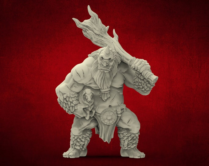AMAZONS! Cyclope / Cyclops - 3D Printed Resin Miniature for Dungeons and Dragons Pathfinder and other Tabletop RPG