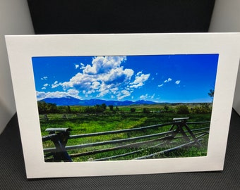 Matted photo greeting card of Grand Tetons