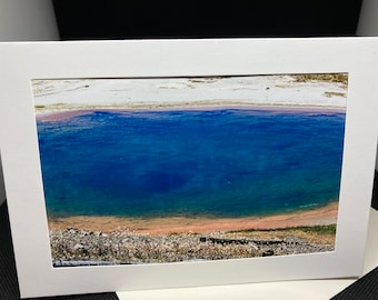 Matted photo  greeting card of Thermal Feature