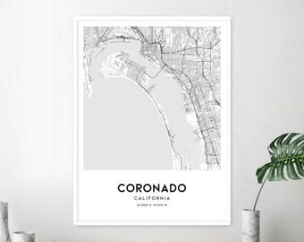 Coronado map | Etsy on map of desert hot springs california, map of french gulch california, map of north county california, map of china lake california, map of southern california cities, map of santa fe springs california, map of dinuba california, map of isleton california, map of santa catalina island california, map of laguna california, map of moss beach california, map of cazadero california, map of san benito county california, map of corona del mar california, map of santa clara county california, map of corralitos california, map of leucadia california, map of del norte county california, map of san mateo county california, map of san elijo california,