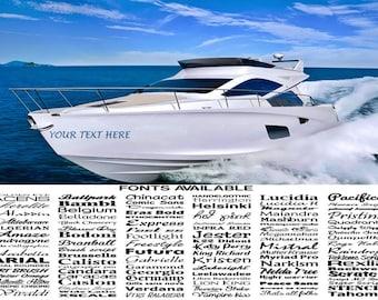 1000mm 1.0m boat name ssr graphics stickers decals custom jestski caravan car