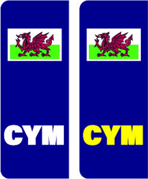 NUMBER PLATE STICKERS WALES WELSH NO EURO FLAG BREXIT PLATE03
