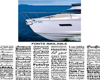 560mm 0.5m boat name ssr graphics stickers decals custom jestski caravan car
