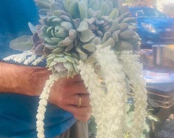Succulent Wedding Bouquet , Bridal Bouquet , Succulent Arrangement, Live Wedding Bouquet , Bridesmaids,floral bouquet , succulents, weddings