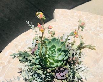 Succulent Wedding Bouquets, Succulent Bridal Bouquet , Succulent Centerpiece