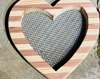 Open heart planter without succulents |succulents |succulent arrangement |wood planters |indoor planter |outdoor planter|gifts