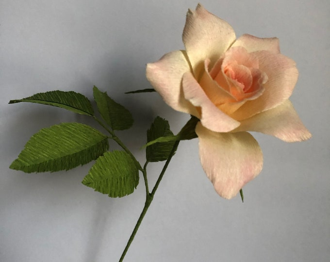 Hybrid tea rose in crepe paper