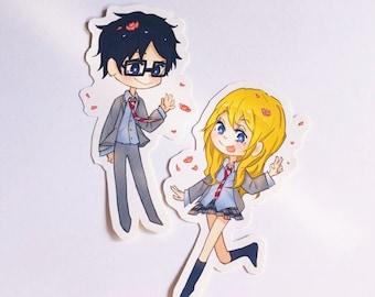 Zip Hoodie Your Lie in April Hoody Kouri Kaori Anime Manga T Shirt Tee