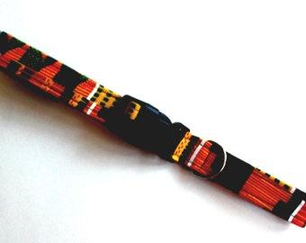 Dog Collar African Kente Print Size Large