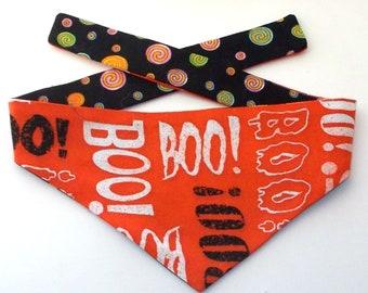 Dog Bandana, Halloween, Reversible, Tie On