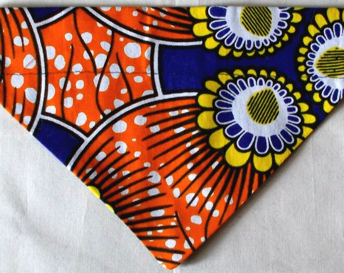 Dog Bandana, Over the Collar, African Wax Floral Print