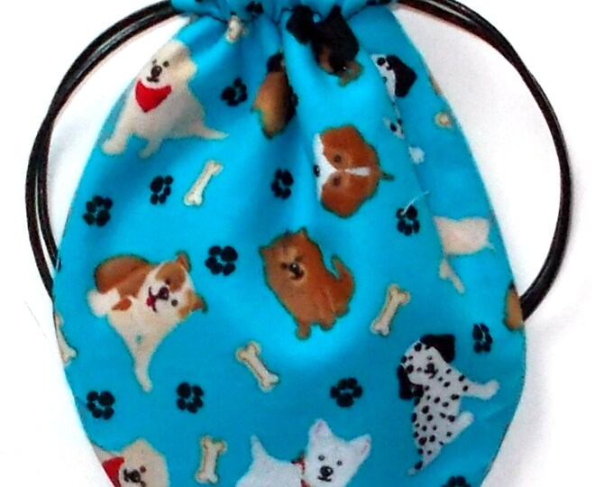 Dog Print Ear Bud Case, Coin Purse, Air Pod Case, Multi-Purpose Fabric Pouch