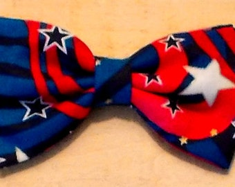 Dog Bow Tie 4th of July Size Small