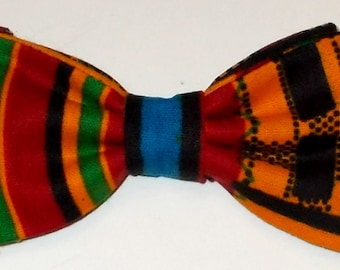 Dog Bow Tie African Wax Print Size Small