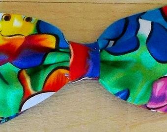 Dog Bow Tie with Clown Print Size Medium