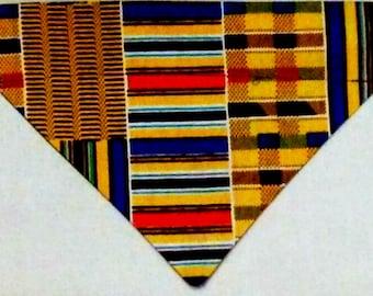 Dog Bandana, Over the Collar, African Kente Print