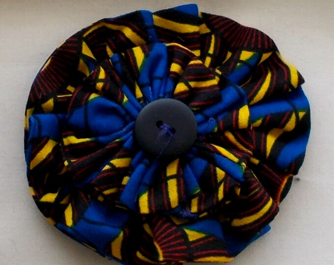 Dog Collar Flower Medium Size African Wax Print