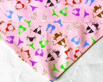 Dog Bandana Pink Bikini Print