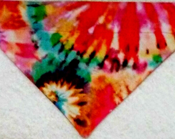 Dog Bandana, Over the Collar, Tie Dye Print Size Medium