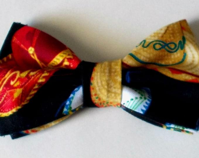 Dog Bow Tie Sombrero Print Size Medium