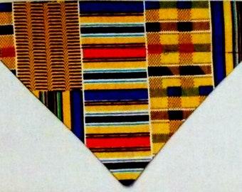Dog Bandana, Over the Collar, African Kente Print (X - Small)