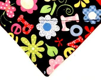 Dog Bandana Over the Collar, Love & Print Dog Bandana, Toy Dog Bandana, Tea Cup Dog Bandana, Cat Bandana, Dog Bandana Small