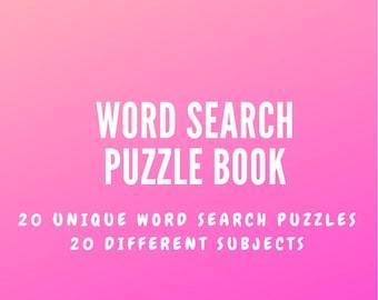 20 Unique - 20 Different Word Search Puzzles