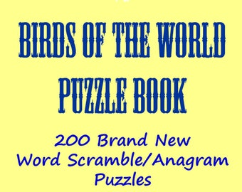Birds Of The World Word Scramble/Anagrams Puzzle Book