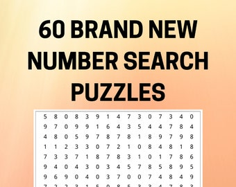 60 Brand New Printable NUMBER SEARCH PUZZLES
