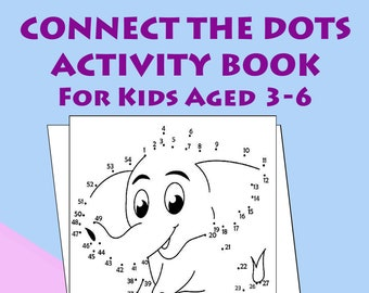 Educational and Fun Dot-to-Dot and Colouring Activity Pages (30 pages)