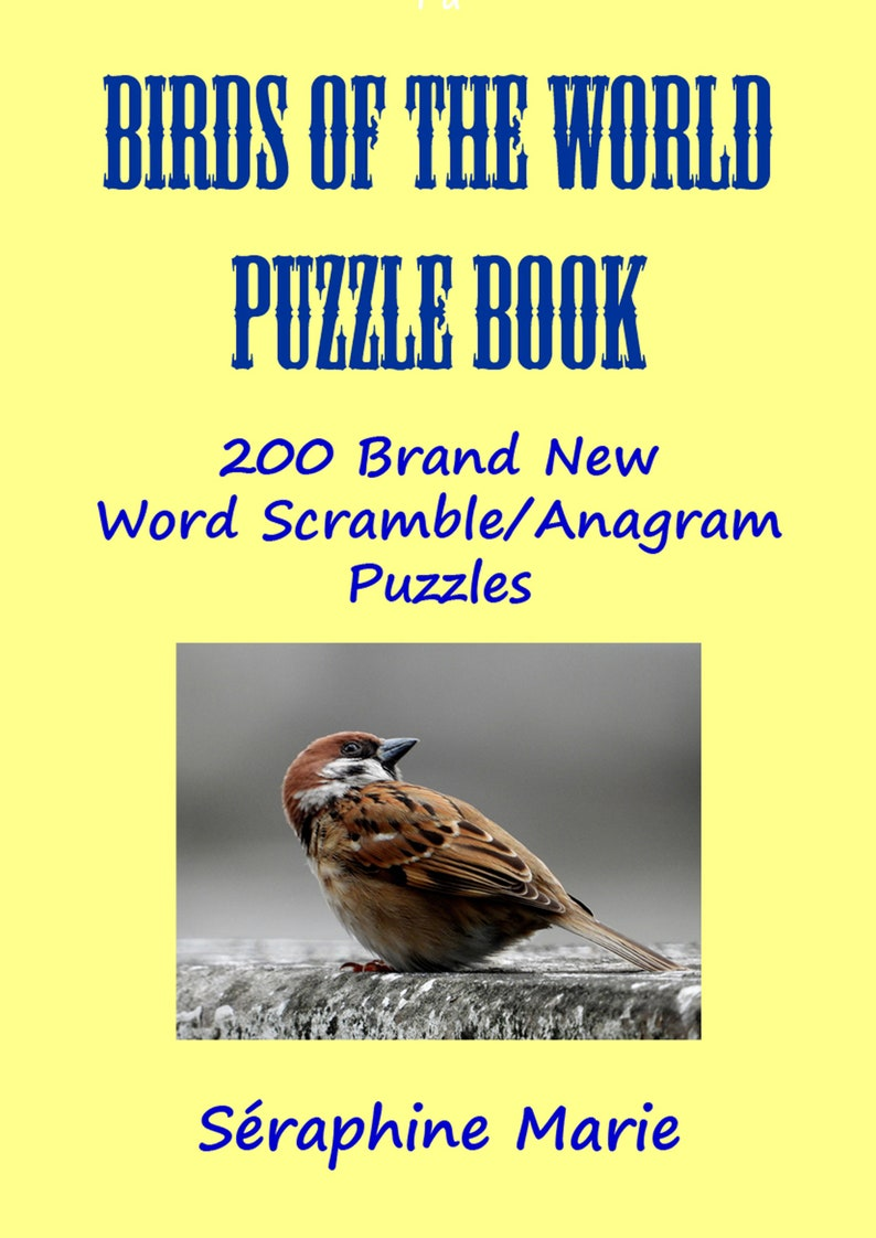 Birds Of The World Word Scramble/Anagrams Puzzle Book image 0