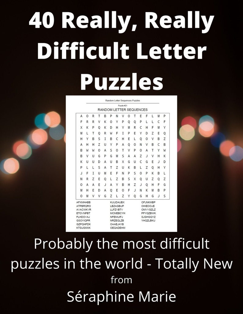40 Really Really Difficult Letter Puzzles  Totally Random image 0