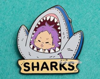 "Dorohedoro ""Heiwa Sharks"" Ebisu Hard Enamel Pin"