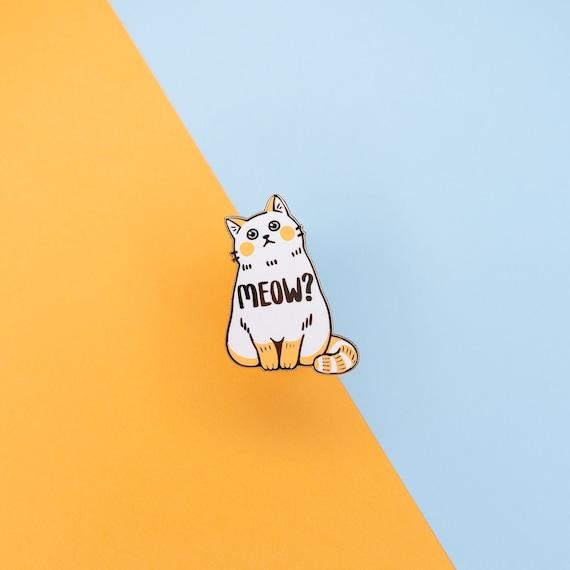 Gift for cat lover Cat dad enamel pin badge