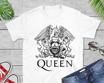 58ff3a445 Queen Band T-Shirt Rock Music Fan Tee We Will Rock You,Freddie Mercury  t-shirt, Rock T Shirt, Vintage Queen Shirt