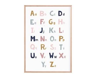Educational children's prints   abc print   uppercase and lowercase alphabet   alphabet print   abc ABC alphabetical