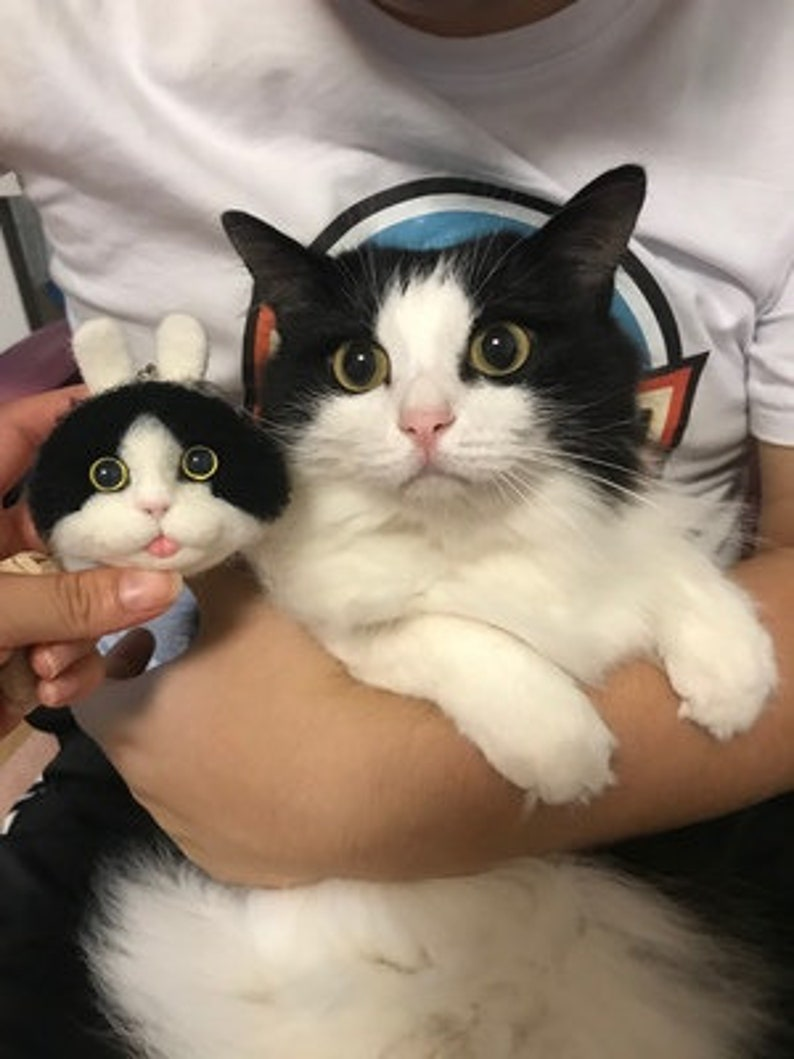 personalized necklace,personalized gift,custom pet portrait,wool felt customization version pet avatar,Needle Felted Kitty/'s Head
