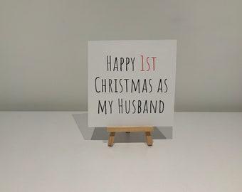 Ma Carte De Noel.Articles Similaires à Carte De Noël Joyeux Noël Beau Mari