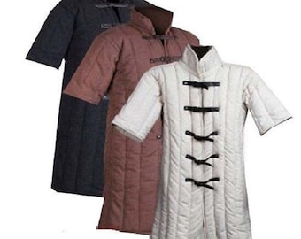 Medieval thick Padded Gambeson costumes dress suit of armour for aketon coat sca