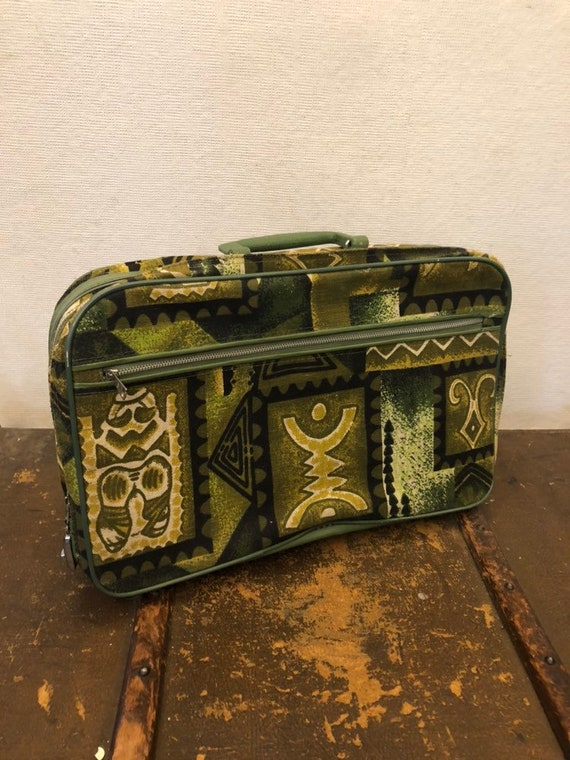 Small Vintage Funky Pattern Suitcase