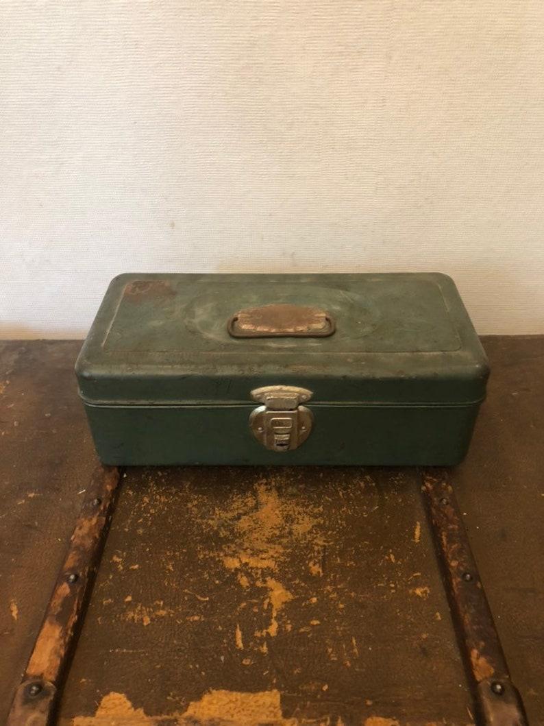Vintage Small Green Tacklebox