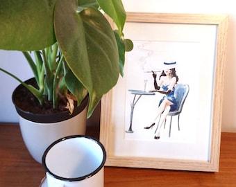 Glamour Illustration - Original framed work
