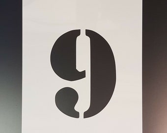 Number 5 Five wall art stencil,Strong,Reusable,Recyclable