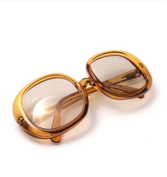 Christian Dior 1960s Optyl Amber Translucent Sungl